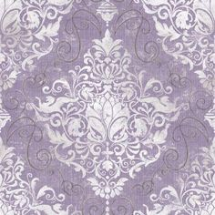 The Wallpaper Company 56 sq. ft. Chandeliere Damask Red Wallpaper-WC1287298 - The Home Depot