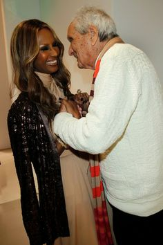 Iman with Ottavio Missoni at the 2011 Rodeo Drive Walk of Style honors.