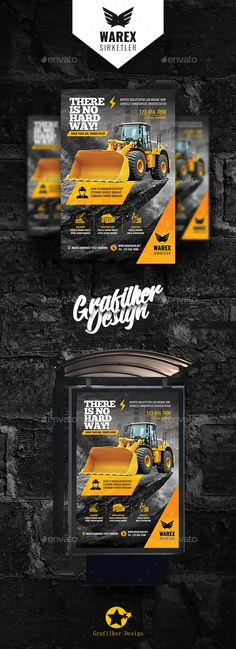 Construction Poster Templates - Signage Print Templates