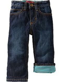 Jersey-Lined Jeans for Baby   Old Navy $19.94
