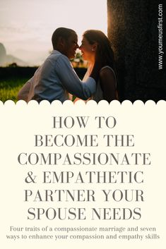 Without compassion and empathy, marriages die. I'm not a naturally compassionate person is not an excuse to be lazy and passive in this area. Learn to grow in your compassion and empathy skills - your spouse and your marriage need it. Relationship Struggles, Real Relationships, Marriage Relationship, Marriage Advice, Empathy Quotes, Compassion Quotes, Marriage Messages, I Love You Deeply, Married Life Quotes