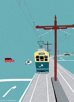 Cover Illustration for SQUET magazine, September 2014 issue on Behance. By Ryo Takemasa.