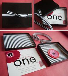 Pretty poppy birthday party invitations by Sophie Design Boutique