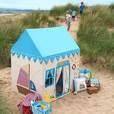 Beach House Playhouse £215 http://www.cruxbaby.co.uk/shop/toys-6-months-toys-activity-learning/beach-house-playhouse-2/