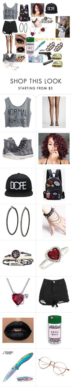 """Carl's gf"" by socially-awkward-princess ❤ liked on Polyvore featuring Free People, Converse, 21 Men, Hot Topic, WithChic, New Directions, Bling Jewelry, Boohoo, Miss Selfridge and OUTRAGE"