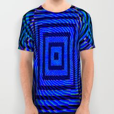 Optical Illusion Maze All Over Print Shirt Psychedelic Vibrant Optical Illusion by CAPARTWORK ~ www.capartwork.com ~ Trippy Clothing & Stylish Psychedelia
