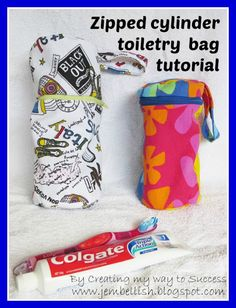 Creating my way to Success: Zipped Cylinder Toiletry Bag Tutorial