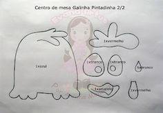 Evana Artes: Moldes Centro de Mesa Galinha Pintadinha