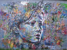 Brush-less graffiti portrait by David Walker. His work is incredible.