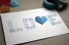 Simple card created with masking tape