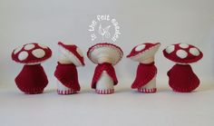 Toadstool Gnome ideal for imaginative play or by InTheFeltGarden