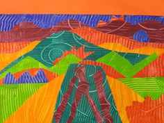 Splats, Scraps and Glue Blobs: Grant Wood Inspired Landscape Collages