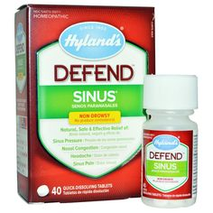 Hyland's, Defend, Sinus, 40 Quick-Dissolving Tablets - iHerb.com Asthma Remedies, Asthma Symptoms, Allergy Symptoms, Cold Or Allergies, Sinus Pressure, Asthma Relief, Vitamins For Kids, Fable, Nasal Congestion