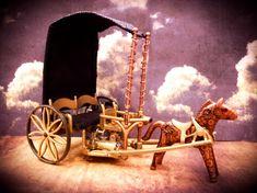 ein Playmobil-Perpetuum mobile aus einer Inspiration des ersten Elektroautos von Ayrton und Perry