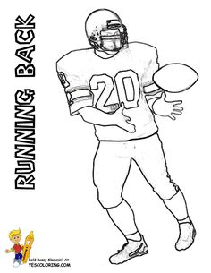 Football Coloring Page Running Back At YesColoring Yescoloring Helmet