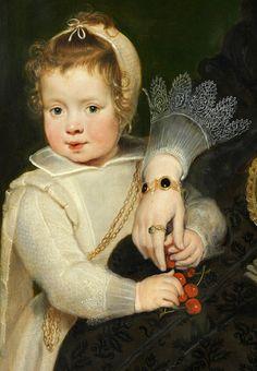 Mother and Child - Cornelis de Vos. Detail.