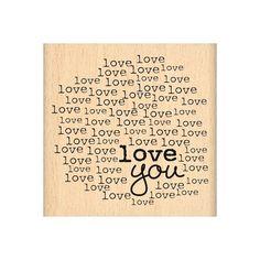 Tampon bois LOVE YOU