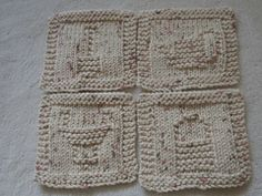 On Ravelry ... Coasters - Gardener's Companions ... pattern by Louise Sarrazin