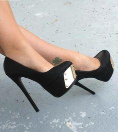 Fashion black high heel #shoes