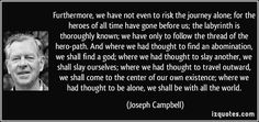 joseph campbell the hero path quotes - Google Search
