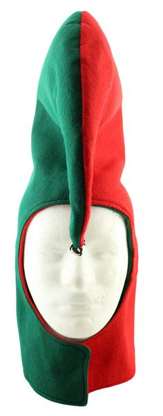 This locally handmade hat is a reproduction of the hats worn by the evil elves in the movie A Christmas Story. Hat is available in One Size Fits Most.