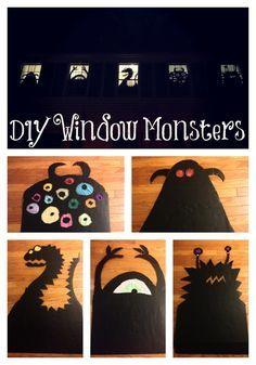 window monsters Halloween à faire avec des cartons