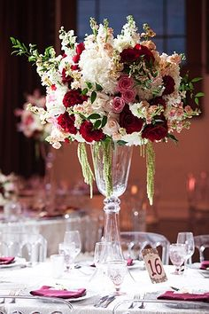 You're probably familiar with some of the most common wedding flower arrangements, such as bouquets, boutonnieres and centerpieces, but it turns out that they're just the tip of the iceberg when it co Cheap Wedding Decorations, Tall Wedding Centerpieces, Wedding Flower Arrangements, Floral Centerpieces, Floral Arrangements, Wedding Bouquets, Tall Centerpiece, Centerpiece Ideas, Floral Wedding