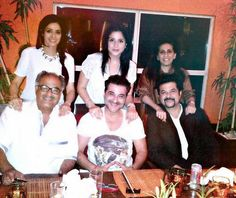 Sridevi with her family celebrating her Birthday. #Bollywood #Style #Fashion
