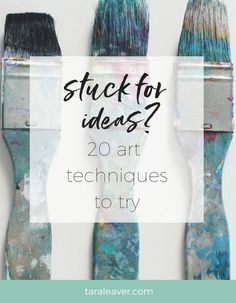 Stuck for ideas? Here's a range of art techniques shared by 20 artists. Pick one and try it out!