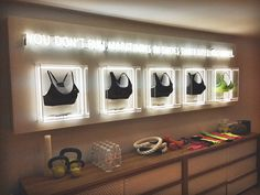 Nike chalk murals for the launch of the new launch of the Nike Pro Bra pop-up store in TorontoInterior design direction by SET CREATIVE