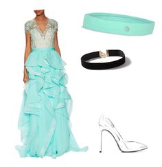 """""""Cinderella"""" by emilyanicole ❤ liked on Polyvore featuring Reem Acra, Yves Saint Laurent, Dorothy Perkins and MPG"""