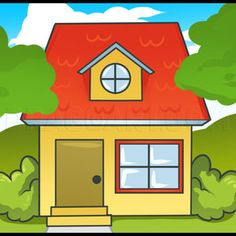 House Drawing For Kids, Simple House Drawing, House Design Drawing, Drawing Videos For Kids, Easy Drawings For Kids, Drawing Programs, Easy Drawing Steps, Harry Potter Drawings, Heart Wall Art