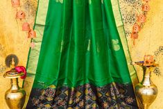 soft silk Kanjivaram Sarees, Kanchipuram Saree, Soft Silk Sarees, Silk Thread, Party Wear, Pure Products, Blouse, Green, Cotton