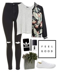 Kaleidoscope Love//Aluna George by thelonelyheartsclub ❤ liked on Polyvore featuring Topshop, MINKPINK, Converse, adidas and NARS Cosmetics