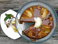 Bartlett Pear Upside Down Gingerbread Cake via A Canadian Foodie