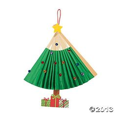 Religious Christmas Crafts | Christmas Tree Fold-Up Fan Craft Kit, Decoration Crafts, Crafts for ...