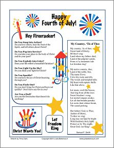 July 4th Women's Ministry ideas and printable handout.