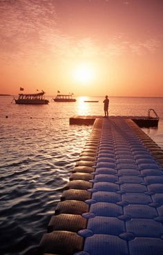 I used to spend hours feeding the fish off this exact pier. Sharm el Sheikh, Egypt
