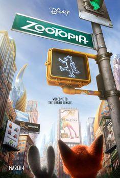 Zootopia (Disney, 2016). Un póster teaser genial que nos dice todo sin quemar nada antes de tiempo.