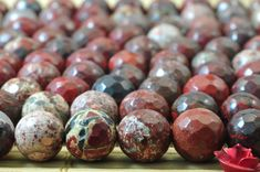 47 pcs of Natural Import Red Jasper faceted round beads in 8mm(04617#)