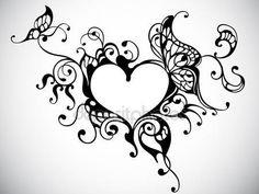 Hjärta ram — Stockillustration #4745144