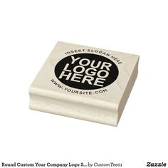 Round Custom Your Company Logo Stamp Seal Design, Custom Rubber Stamps, Round Logo, Wood Stamp, Ink Stamps, Stamp Making, Wooden Handles, Business Logo, Custom Logos