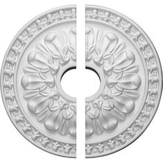Ekena Millwork 18 in. O.D. x 3-1/2 in. I.D. x 1-3/8 in. P Warsaw Ceiling Medallion (2-Piece)
