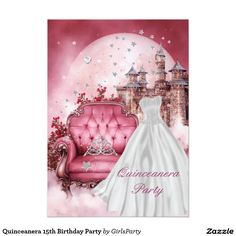 Quinceanera 15th Birthday Party 5x7 Paper Invitation Card