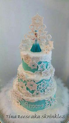 Disney Frozen Cake on Pinterest  Frozen Birthday Cake, Frozen Cake ...