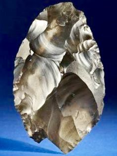 'The Happisburgh Hand Axe' -- 700,000 Years Old -- Excavated at Norfolk, UK -- Belonging to The Norwich Castle Museum.