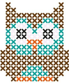 Owl cross stitch pattern…good one for Emily to start with