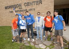 More than 300 students, staff and faculty, including these students from the Boise State Running Club, turned out to spruce up campus on the second annual University Day on Friday, May 4.