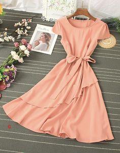 Beautiful Summer Dresses, Pretty Dresses, Dress For Short Women, Short Dresses, Chiffon Dresses, Blouse Dress, Summer Outfits, Dress Summer, Casual Outfits