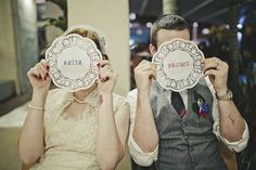 paper doily placecards  Check out the musical selections!!